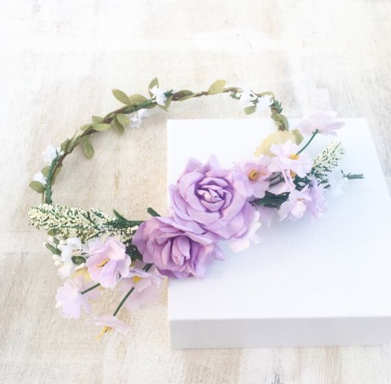Welcome to LULU in the SKY  This is a unique piece of The Lulu in Love bridal collection.  The flower crown is made up of a beautiful mix of