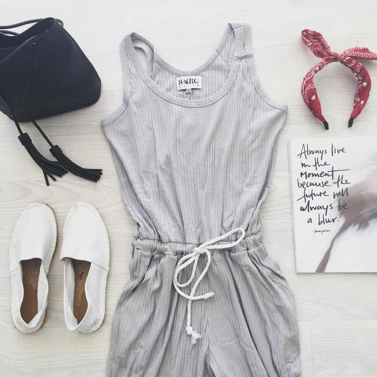 Grey Ribbed Jumpsuit #SaboSkirt