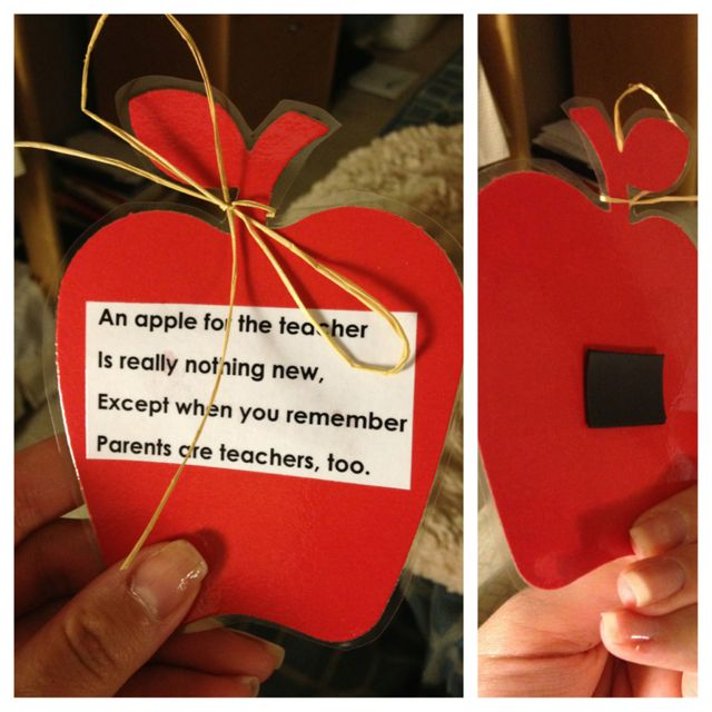 Kids could write this on a die cut apple to give to parents when they finish their tour of the room.  Awesome gift for parents at Open House / Back to School night