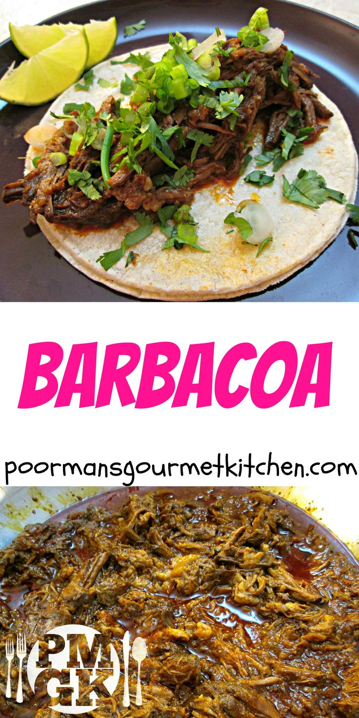 This Barbacoa recipe is the REAL DEAL, no cheats.  It's as authentic as it gets and it will blow your mind.  Check out the Video Recipe included on this page and watch me make it from scratch - Poor Man's Gourmet Kitchen