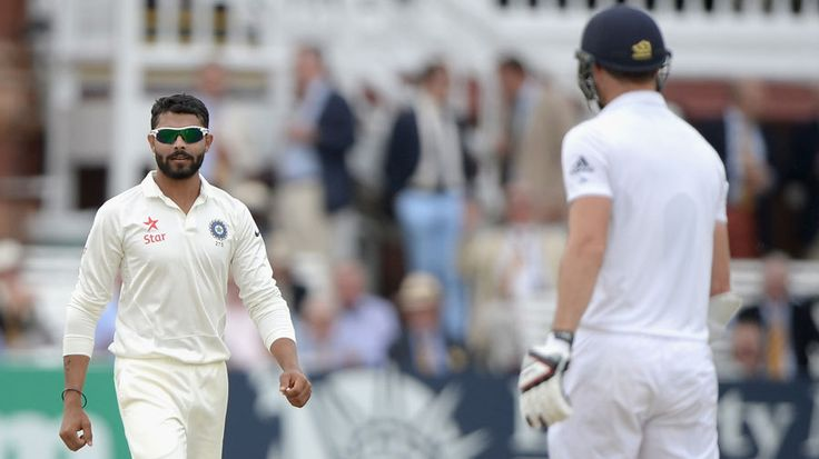 Ravindra Jadeja and James Anderson come face to face, England v India, 2nd Investec Test, Lord's, 3rd day, July 19, 2014