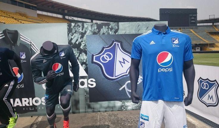 Nueva camiseta Millonarios: Millonarios presentó su nueva indumentaria para el 2016   Actualidad   Caracol Radio