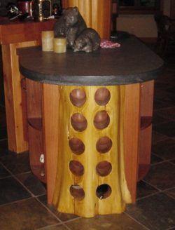 Log wine rack