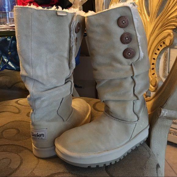 skechers women's keepsakes-big button slouch tall winter boot