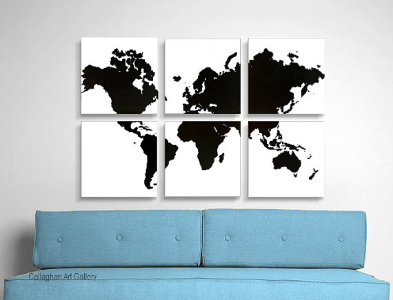 Modern Map of the World Art