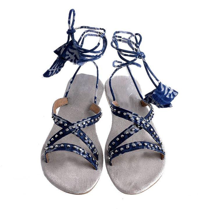 SANDAL IN BLUE COLOR W/ CORDS - Sandals