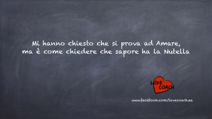 L' #amore va assaporato e vissuto. Nessuno può dirti che sapore ha.  Vivi le tue #emozioni su www.facebook.com/lovecoach.ea