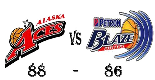 Alaska Aces win against Petron Blaze Boosters in 2012-2013 PBA Philippine Cup Elimination Round