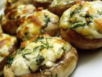 Peynirli Mantar / wood oven baked mozzarella cheese, shrimps and mushrooms