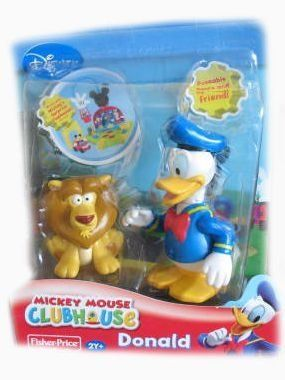 Disney Mickey Mouse Clubhouse Donald Duck with Lion by Fisher Price. $4.99. Each figure pack is packed with fun and kids will love to collect them all!. Each figure packincludes an articulated figure and friend!. These Figure Packs allow children to recreate a Mickey Mouse Clubhouse episode! Each figure packincludes an articulated figure and friend! Mickey is ready to go fishing with Mr. Petebone, Minnieis ready to go to a birthday party with her friend Baby Elephant,Goofy i...