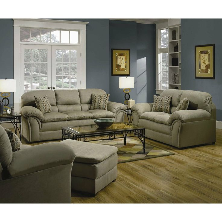Furnituremaxx Velocity Hazel Microfiber Sofa , Made In USA : Sofas
