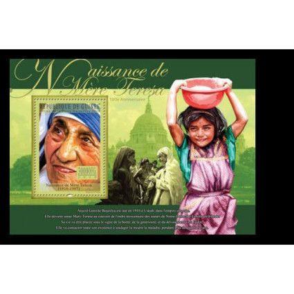 Guinee  MNH SS, Mother Terresa (1910-1997) Nobel Peace Winner