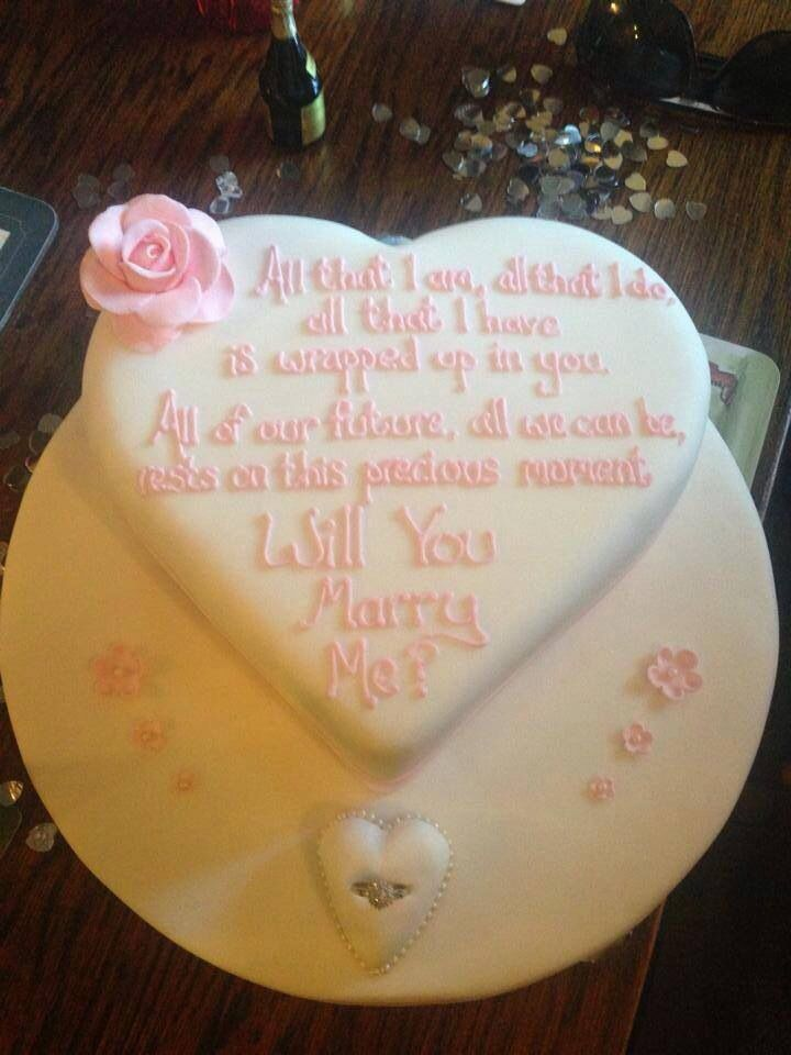 'Will you marry me?' Cake | Cakes | Pinterest | Marry me ...
