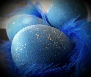 Blå æg.