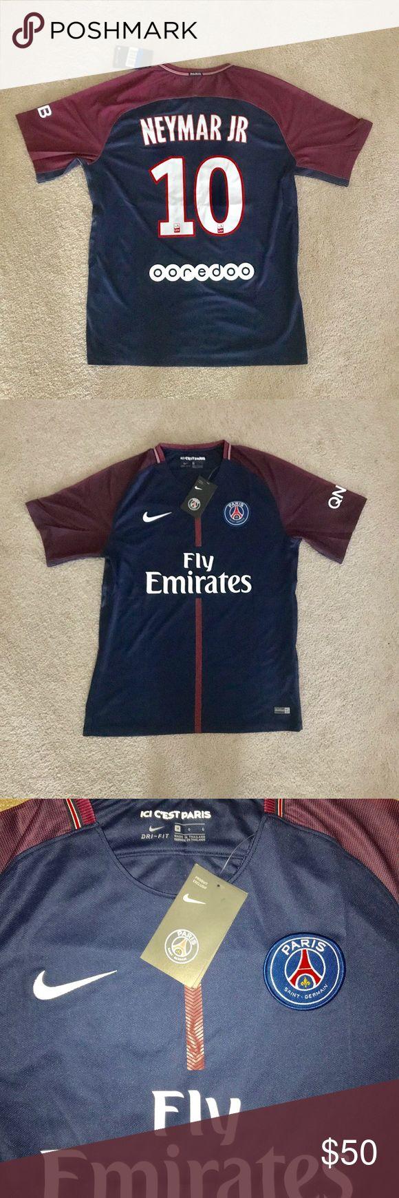 Neymar Jr #10 PSG soccer jersey Brand new with tags , medium size , PSG soccer jersey , Neymar Jr #10 Nike Shirts Tees - Short Sleeve