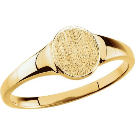 Custom Engraved 10K Yellow Gold Oval Signet Ring - tap to personalize and get yours