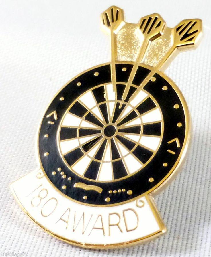 Darts 180 Award Pin Badge Pin Badge P055 Darts Pinterest