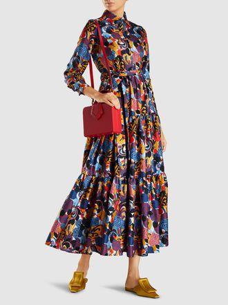 3a1aaf7d05b1f La DoubleJ - Printed Long Sleeve Silk Bellini Dress