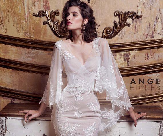 Bridal dress EMMANUEL lace weeding dress by RaraAvisAngeEtoiles