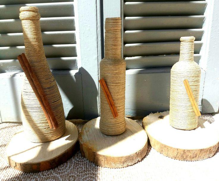 Bottles string cinnamon