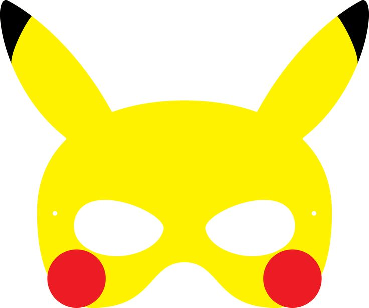 Agile image with pokemon mask printable