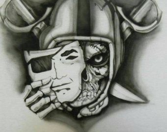 raiders symbol stencil - Google Search