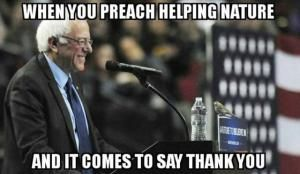 A roundup of the best political memes and viral images skewering politicians and reacting to hot-button political issues of the day.: Nature Says Thank You