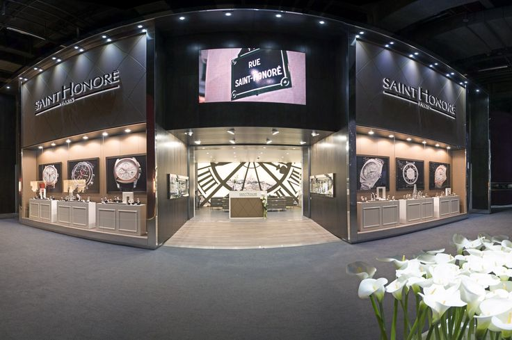 """ELEGANCE HAS A NEW ADDRESS IN BASELWORLD  """"Messe Basel"""" stand E21 (Hall 1.1). With BaselWorld, the World Watch and Jewellery Show, entering a new era, SAINT HONORE follows suite by unveiling a new stand as well as its new collection. SAINT HONORE's new """"home"""" complements the recently completed building by architects Herzog & de Meuron, and attracts all the attention with its natural elegance and exceptional design."""