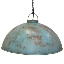 Lampa, rund i antik blå  1350kr