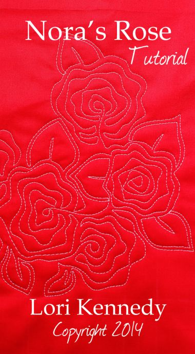 Nora's Rose-Free Motion Quilt Tutorial