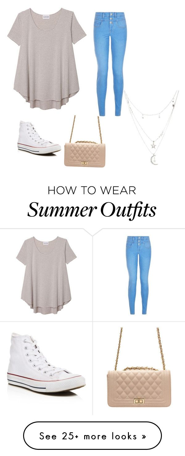 """""""Casual summer outfit"""" by aaliyah4944 on Polyvore featuring Olive + Oak, Converse and Charlotte Russe"""