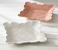 LACE POTTERY...USE AIR DRYING PORCELAIN CLAY