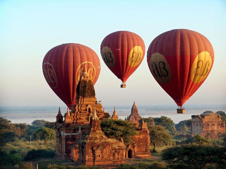 #Myanmar - Bagan Montgolfière, Balloon