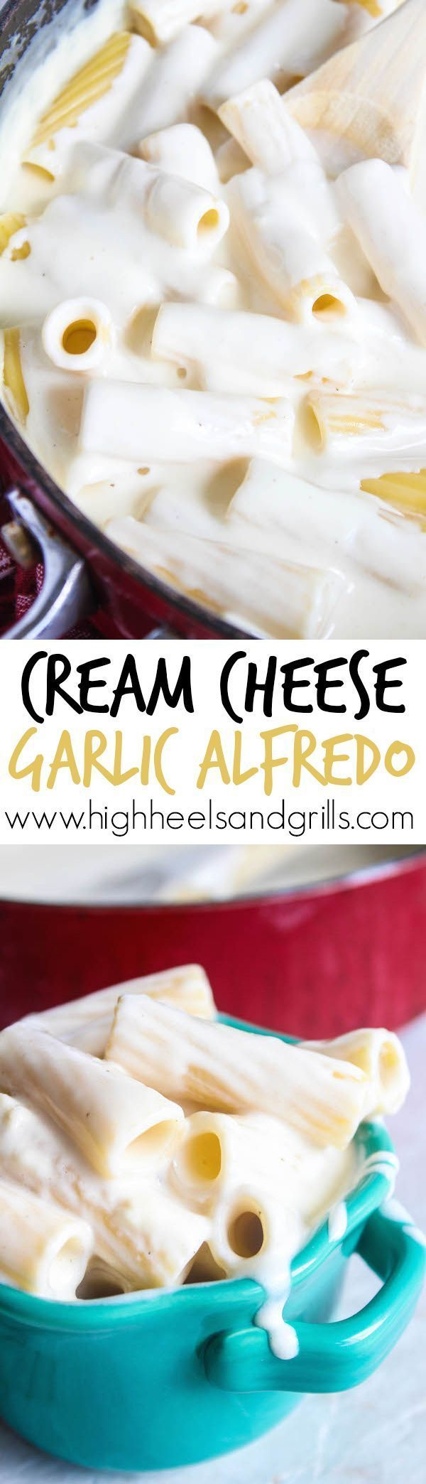 Cream Cheese Garlic Alfredo - The easiest Alfredo I have ever made and tastes…
