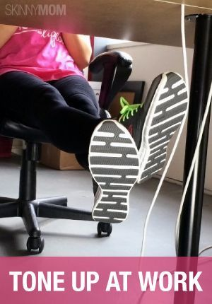 Stay in shape and burn some calories at work with these 5 moves!