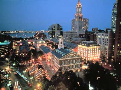 Boston, MA.  Back in the 90s I'd hit the airport in Spartanburg, SC early to board a plane to Boston; enjoy the historic sights and food and be back home around 10pm...great day trip! historic Faneuil Hall Marketplace