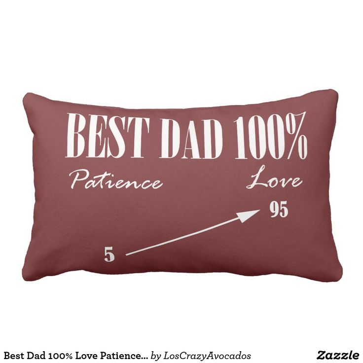 Best Dad 100% Love Patience Funky Father Cushion