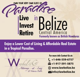 Ad for Wrobel and Company  to live in Belize – Best Places In The World To Retire – International Living - Starting from north of Belize and in general heading south, Corozal town is the northernmost large town of Belize, located closest town to the Mexican border. From some places in Corozal town you could probably be at the Mexican border in less than 20 minutes.