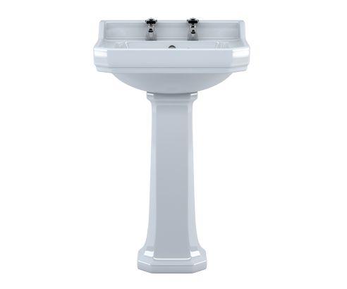 Victorian Designer Pedestal Basin - V30151051CA front square medium
