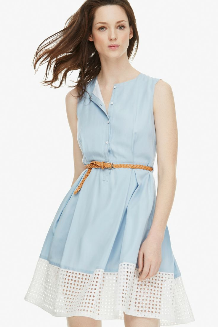 Ladylike Shirt Dress - mediterranean summer | Adolfo Dominguez