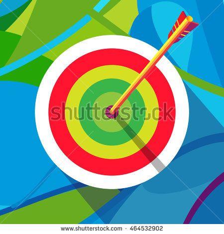 Rio de Janeiro Archery Target abstract background. Target Vector illustration. Rio Archery 2016 icon. Archer winner banner Rio summer. Sport Brazil. Rio sign. Rio poster. Archery icon. Olympic pattern