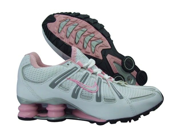Nike Shox Turbo Women Shoes - White Pink Grey also features a clear  outsole, which