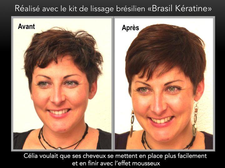 lissage brsilien sur cheveux courts - Coloration Avant Lissage Brsilien