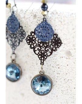 Σκουλαρίκια Stones & Blue Circles