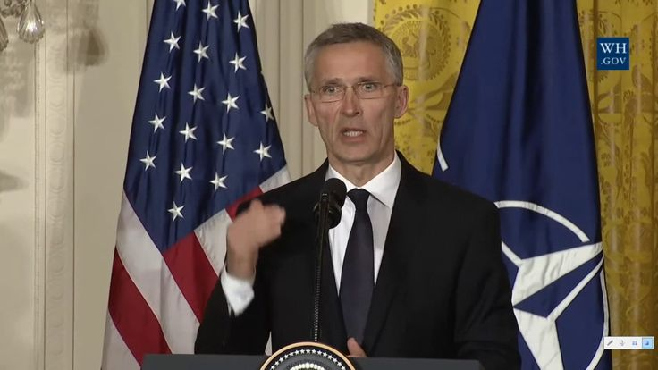 President Trump and NATO Sec General. WH Press Conference.