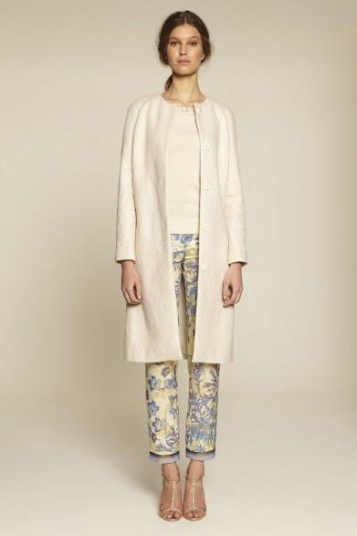 Collette Dinnigan Beaded Cotton & Sequins Coat