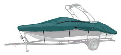 """Taylor Made Trailerite Semi Custom Boat Cover for Euro Style V-Hull Runabout w/ Wakeboard Tower I/O - Teal - 21'5"""" - 22'4"""""""