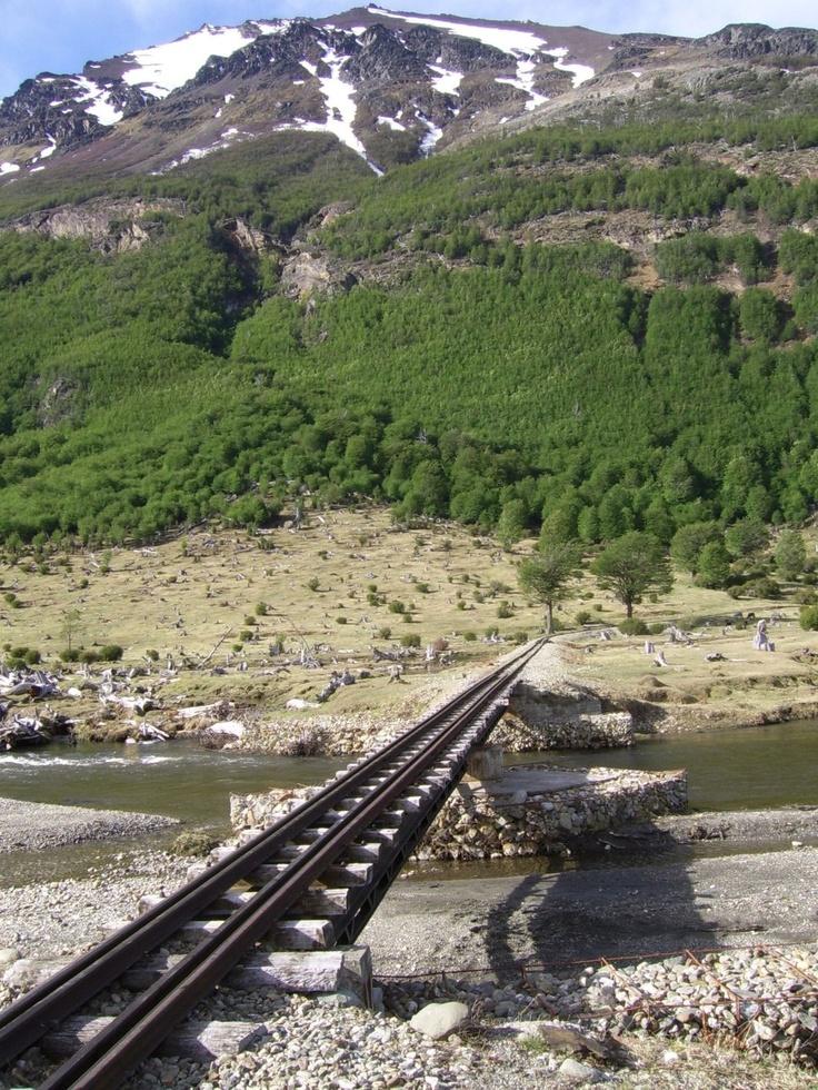 El tren turístico va desde las cercanías de la ciudad de Ushuaia hasta el Parque Nacional Tierra del Fuego - ARGENTINA