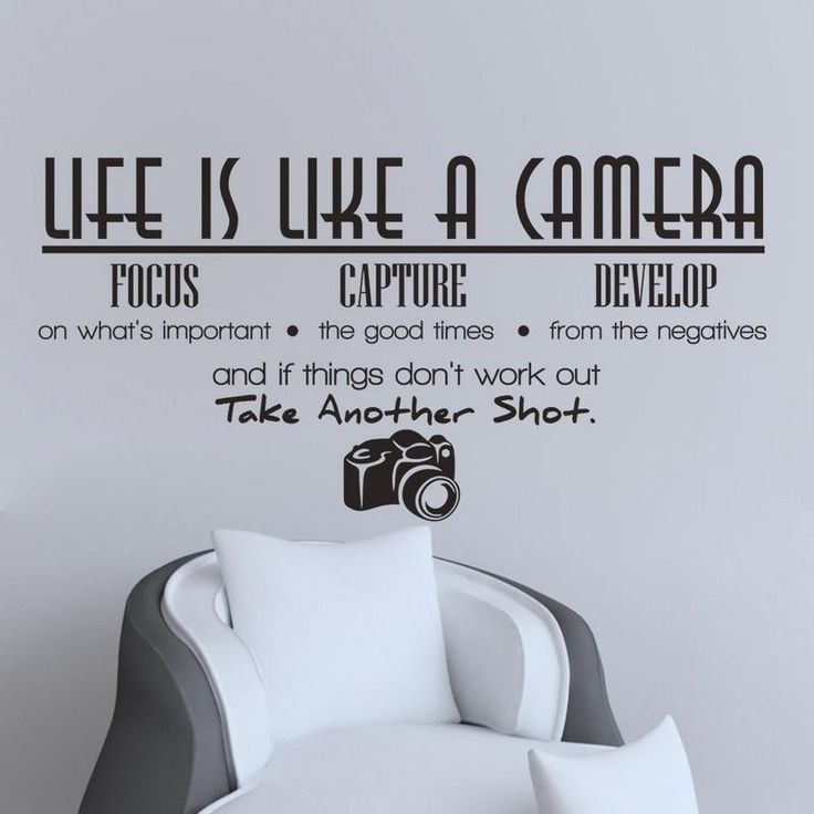 Life Like Camera PVC Removable Wall Decals Art DIY Wall Sticker-Vinyl Wall Stickers-Leap Year Store