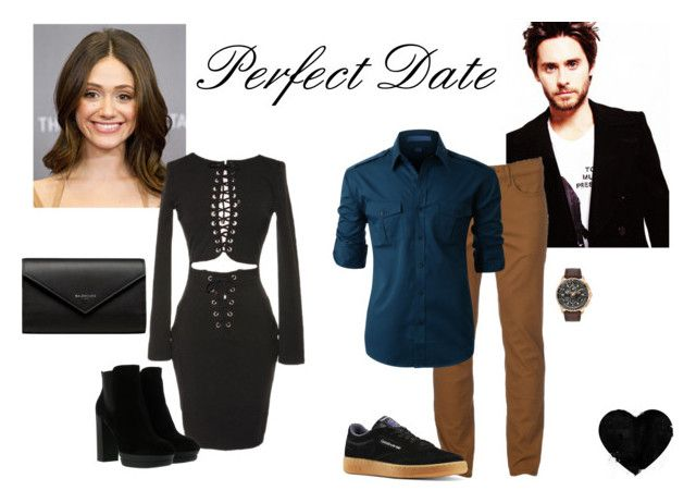"""Perfect Date"" by bbriii on Polyvore featuring Urban Pipeline, Hogan, Balenciaga, Reebok, LE3NO and Citizen"